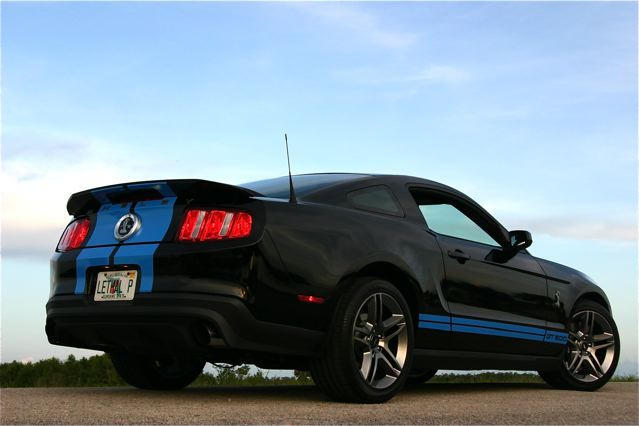 First photoshoot for Lethals 2010 GT500 Black with Grabber Blue